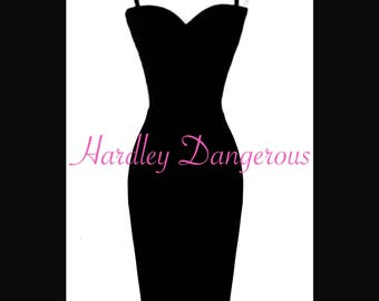 Strappy Tank CHERRYBOMB Pencil Dress with Sweetheart Neckline, MISSES Knee Length 38""