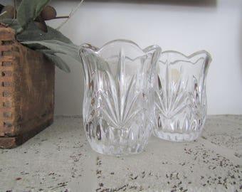 Votive Candleholder  Princess House  Crystal Candleholder  Glass Candle Holder  Gift Under 20