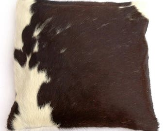 Natural Cowhide Luxurious Hair On Cushion/ Pillow Cover (15''x 15'') A94
