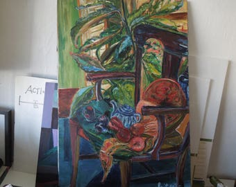 "60s Artist, Spitzer, original signed art, 24"" x 36"" canvas only"