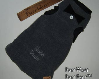 50% 0ff Sale..last one...Medium Embroidered Sweater for Sphynx, Devon Rex, Peterbalds and all Cats