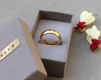 14k gold wedding band, Hammered wedding band, Hammered promise ring band, popular wedding bands, women gold band, 14k gold wedding ring