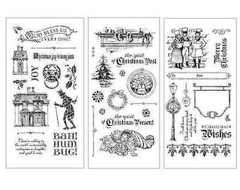 Graphic 45 A Christmas Carol Stamp Set Collection