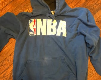 Vintage NBA hoodie/blue/size L/stitched on letters