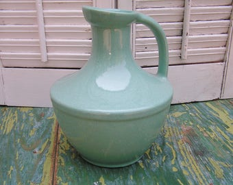 Vintage Mid Century Pfaltzgraff Pottery Turquoise Speckled Pitcher Water Jug Water Pitcher York PA USA Retro Pottery Kitchen