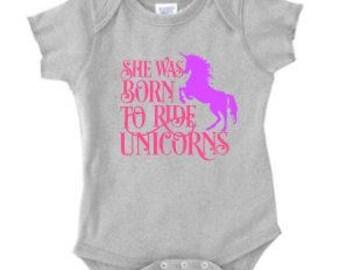 baby shirt, custom shirt, oneies, unicorn