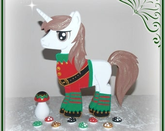 PRE-ORDER 20cm Male Elf Christmas Unicorn With Small Toadstools