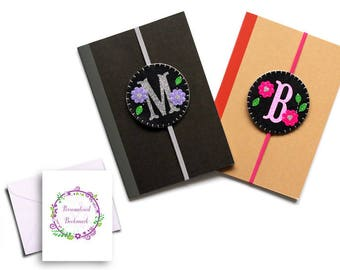 Personalised bookmarks, monogram bookmark, book lover gift, gifts for her, letter bookmark, felt bookmark, gift for mum, mothers day gift