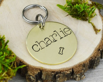 Hand Stamped Pet ID Tag • Personalized Pet/Dog Tag • Dog Collar Tag • Custom Engraved Dog Tag • Have Your People Call My People Dog ID Tag