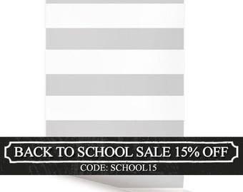 Horizontal Grey Peel & Stick Fabric Wallpaper Repositionable