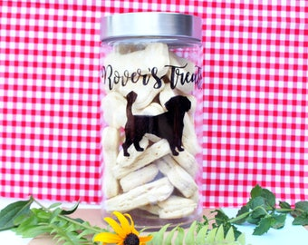 Custom dog treat jar- large