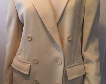 Vintage Mondi wool cashmere blazer made in West Germany classic elegance sz 34/S/M