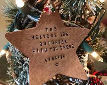 Memorial Ornament - Memorial Gift - Memorial Gifts Personalized - Condolence Gift - In Memory Ornament - Memorial Gift Mom - Grief Gift