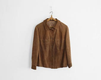 1960s Suede Jacket/Overshirt