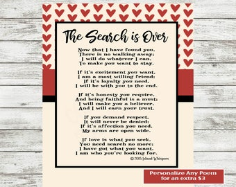Wedding Poem, Valentine's Day Poem, Love Poem Printable, Poetry Print, Gift for Boyfriend, Husband, Finance Poem, Wife Poem,Instant Download