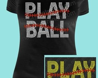 Play Ball Rhinestone Tee TS239
