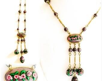 Art Deco Venetian Glass Necklace