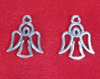 "10pc ""angel"" charms in antique silver style (BC1277)"