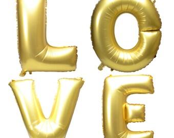 "16 ""golden letter LOVE birthday party ballons / ballons wedding / ballons love"
