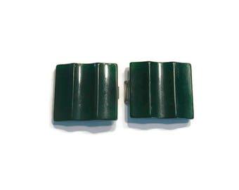 Bakelite Belt Buckle, Emerald Green Bakelite, Green Buckle, Sewing Supply, Vintage Accessories