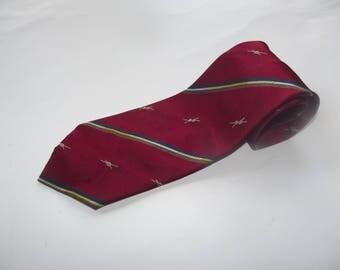 Vintage Regimental Club Tie / Pure Silk Tie Made in Italy