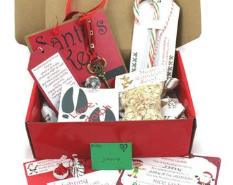 Santa gift personalized christmas eve box popcorn hot personalized package from santa letter from santa santas magic key reindeer food spiritdancerdesigns Gallery