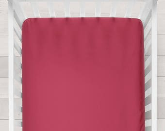 Red Crib Sheet Red Crib Bedding Nursery Crib Sheets Baby Girl Bedding Girl Nursery Bedding Fitted Crib Sheet Girl Nursery Sheet