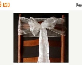 STOP N SAVE 20% Organza Chair Sashes (9Ft, 10 Pack)