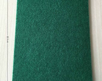 Coupon of pine green felt 3 mm thick