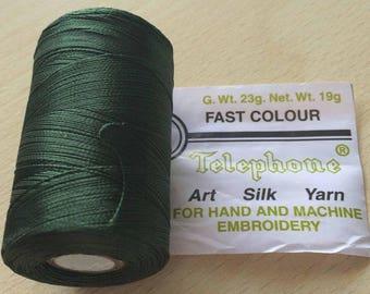 Rayon thread / artificial silk 17 green D