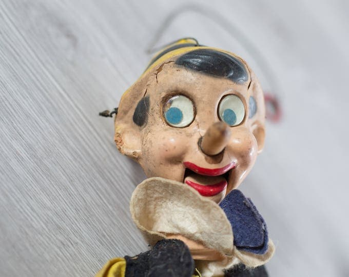 Antique Pinocchio Marionette / Vintage Doll on Strings