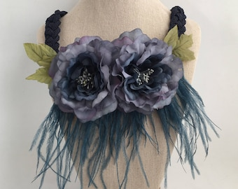 NECKLACE/belt Peony blue