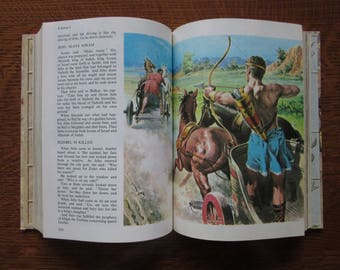 The Childrens' Bible, 1965 Vintage Oversized Hardcover Book, Christian Stories, Old and New Testament, God, Jesus,Collectible Christmas Gift
