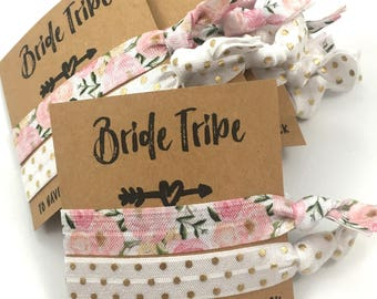 Bachelorette Party Favors // Bridesmaid Gift // Bride Tribe - To Have And To Hold Your Hair Back // Bachelorette Survival kit - Hair Tie