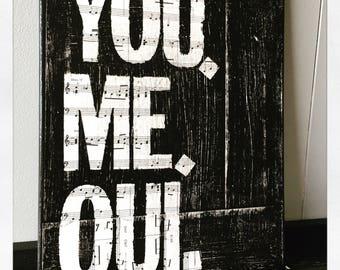 Canvas Art Quote, You, Me, Oui 11 X 14 Canvas