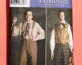 Simplicity 5035 Fashion Historian Civil War era men's pants and shirt pattern designed by Martha McCain Sizes 38, 40, 42 and 44
