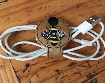 Honey Bee - Bee - Snap - Cord Holder - In The Hoop - DIGITAL Embroidery Design