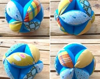 balle montessori de préhension, jouet d'éveil bébé, balle multicolore