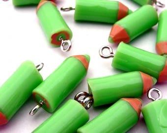 X 1 green pencil resin 20mm