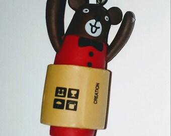 X 1 happy bear 3D kawaii 45mm