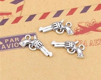 X 2 Tibetan silver pistol