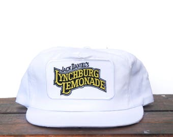 Vintage 80's Jack Daniels Lynchburg Lemonade Drink Bourbon Whiskey Liquor Alcohol Snapback Trucker Hat Baseball Cap
