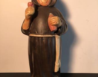"Collectible Limited Edition Wine Bottle(empty) ""Bertocchini""Livorno Italy 1960s Nun  Gift Idea"
