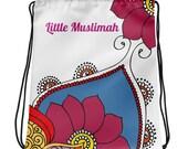 Muslim Girl's Drawstring bag, Muslim kids, Muslim Girl's gifts, Hijab, Muslim gifts, Muslim Girls gifts, Muslim Girl's bag