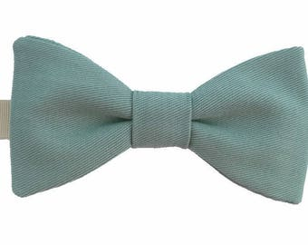 Mint green bowtie with straight edges