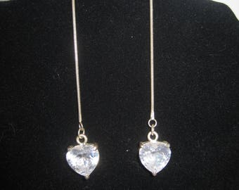 Silver Tone Threader Earrings