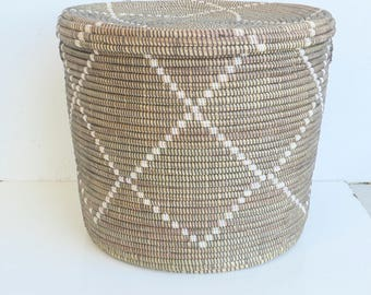 Superb Modern Moroccan Style Basket, Side Table, Burlesque Home Decor,