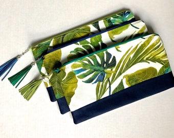 Tropical Print Long Clutch