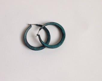 NEW! Hand made hoop earrings