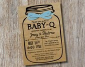 Custom - Baby-Q Baby Shower Invitation